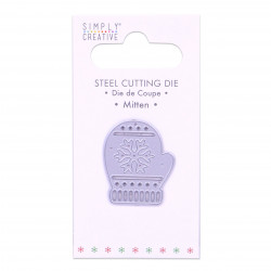 DOVECRAFT SIMPLY CREATIVE SMALL STEEL CUTTING DIE EMBOSSED STAR