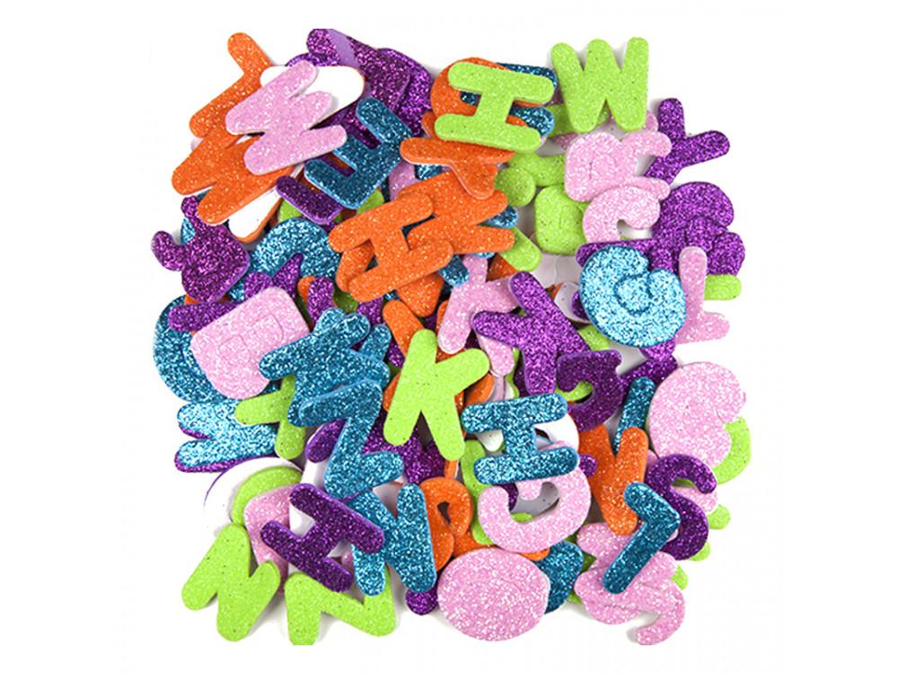 Glitter foam stickers - DpCraft - letters, 120 pcs.