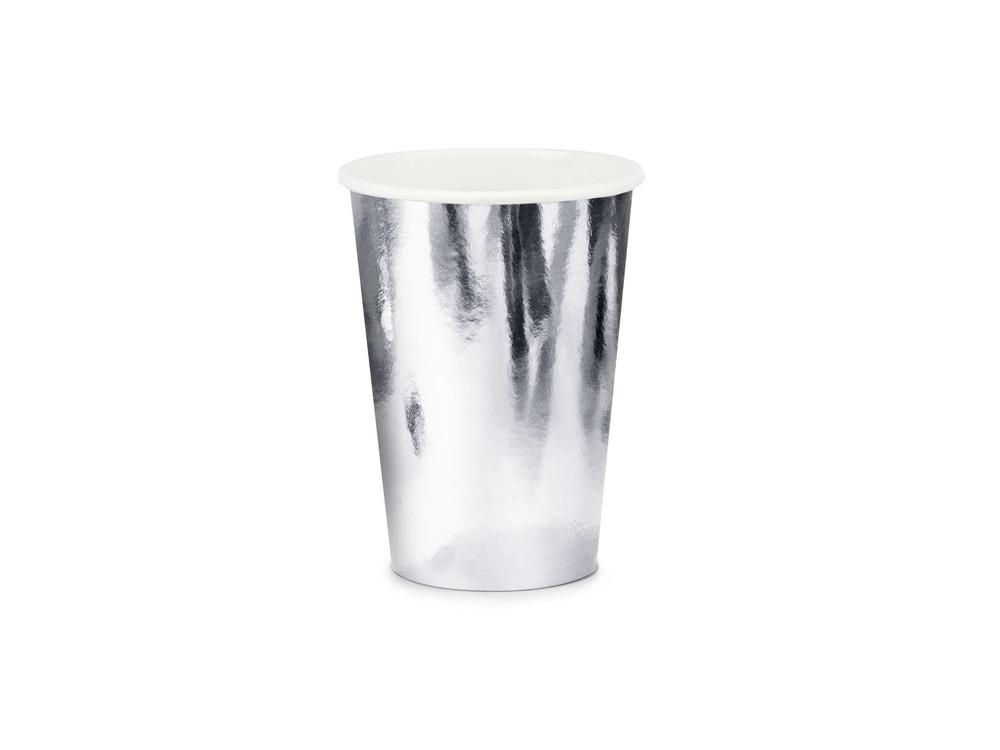 Paper Cups - silver, metallic, 220 ml, 6 pcs.