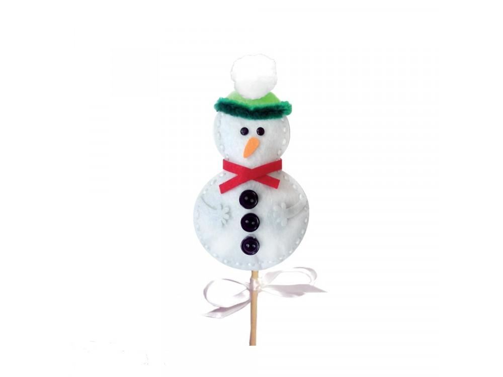 FELT SNOWMAN STICK PUPPET CRAFT KIT