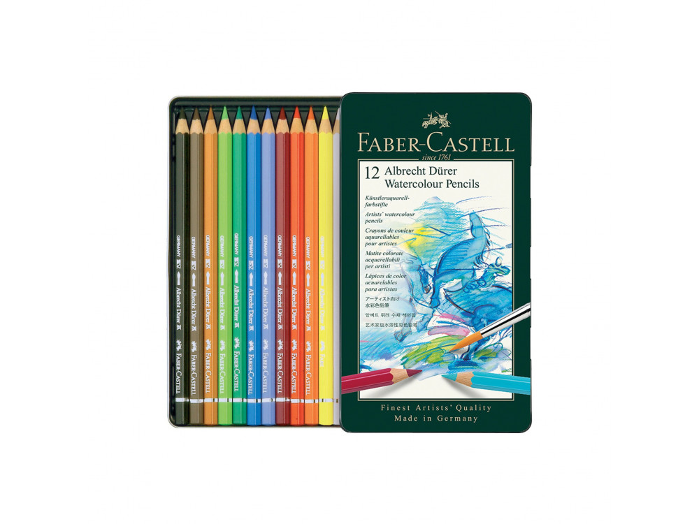 Set of A. Dürer crayons in a metal case - Faber-Castell - 12 colors