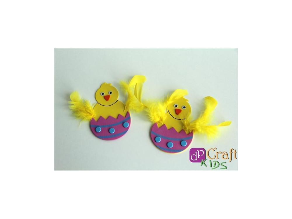 Foam Easter Chicken Set, 5 pcs