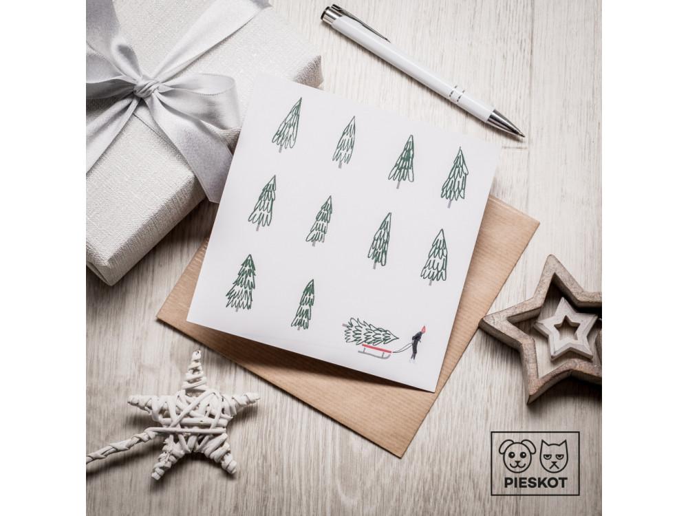 Greeting card - Pieskot - It wasn't me, 14,5 x 14,5 cm