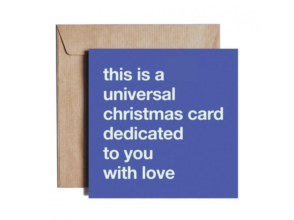 Greeting card - Pieskot - Specially 4 U, 14,5 x 14,5 cm