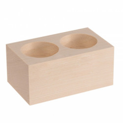 Wooden Candlestick for 2 Candles