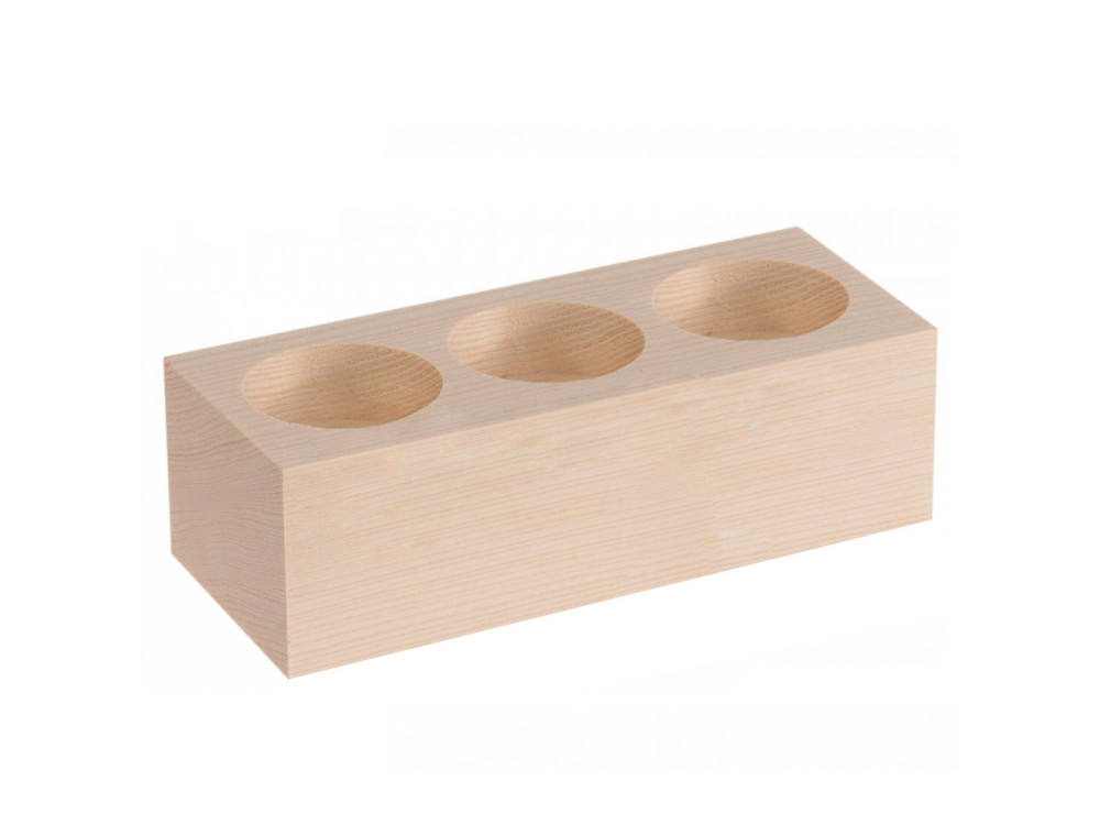 Wooden Candlestick for 3 Candles