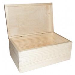 Drewniane pudełko, kasetka - 21,5 x 13,8 x 10 cm