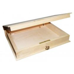 Drewniana oprawa na książkę z kluczykiem - 17 x 21 cm