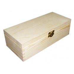 Kasetka drewniana, podłużna z klamrą