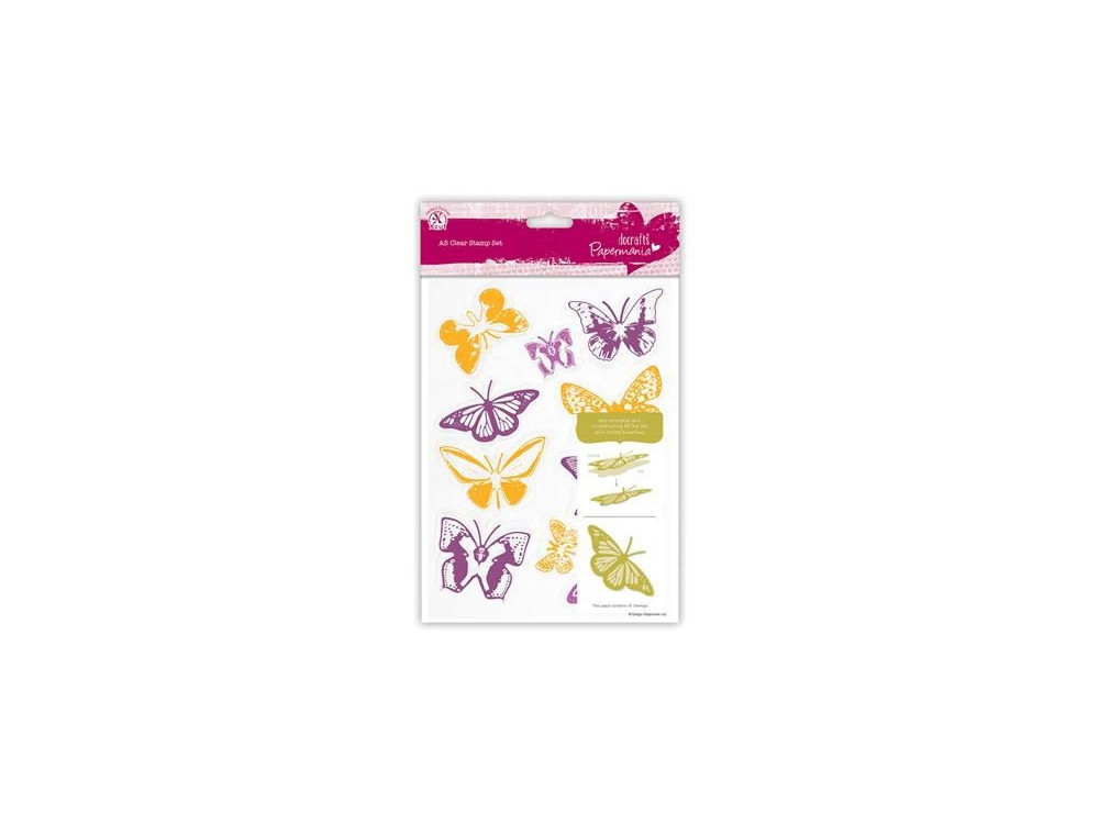 Clear Stamps Butterflies - Papermania - colorful, 10 pcs.