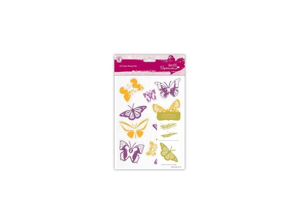 Stemple akrylowe - Papermania - Butterflies, 10 szt.