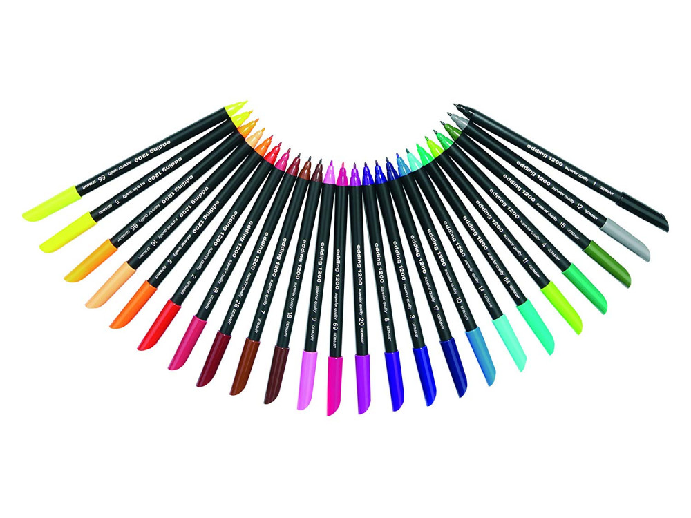 Set of color pens in metal tin - Edding - 20 colors