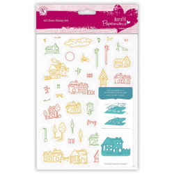 Clear Stamps – Papermania – Village 40 pcs