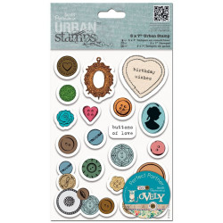 Rubber Urban Stamps - Papermania - 19 pcs.