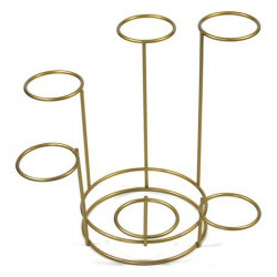 Metal easter egg stand - gold, six holes, 17 cm x 45 mm