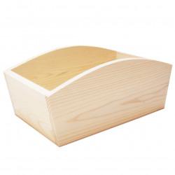 Pojemnik drewniany bez otworów - 28 x 16 x 11,5 cm