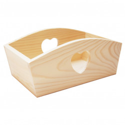 Wooden Container with Heart - Big