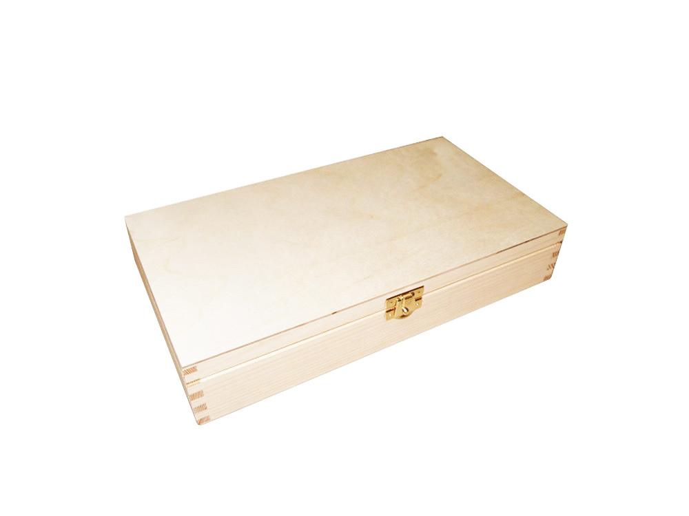Drewniane pudełko kasetka - 33 x 23,7 cm