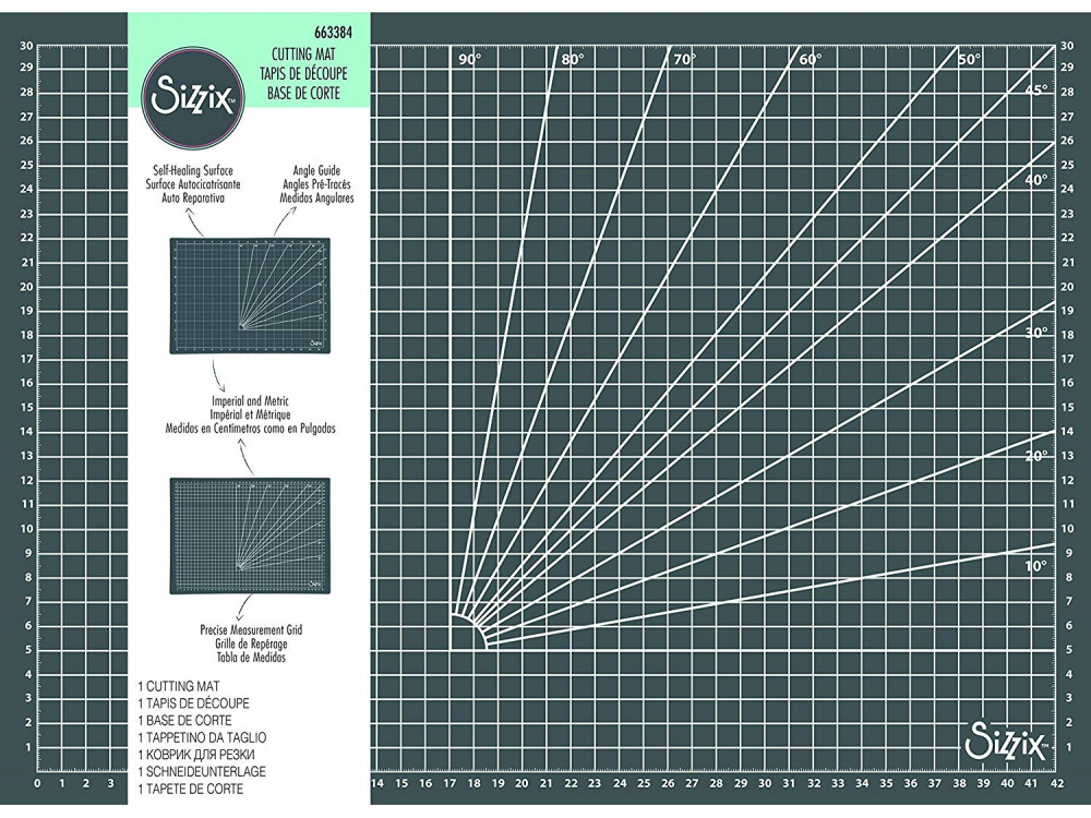 Double-sided, self-healing cutting mat - Sizzix - 32,7 x 43,4 x 0,3 cm