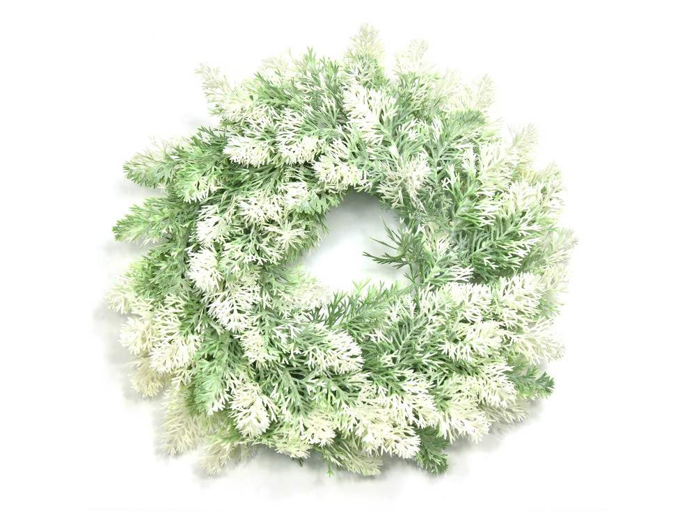Christmas wreath - green and white, 30 cm