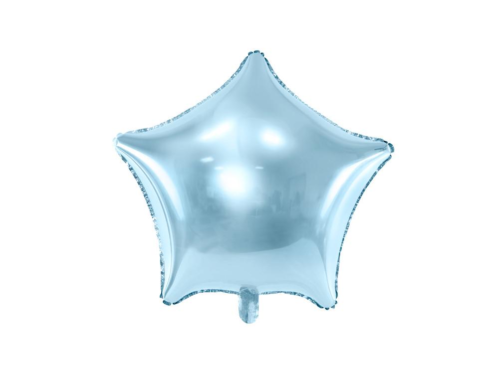 Foil balloon Star - light blue, 48 cm