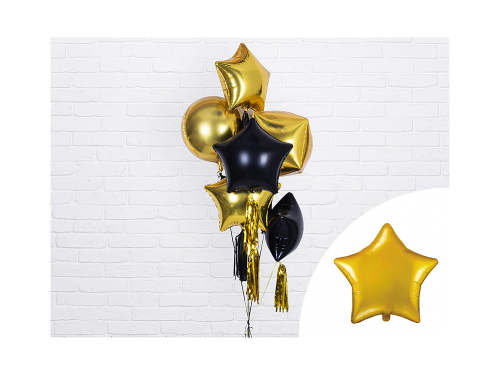 Foil balloon Star - gold, 48 cm
