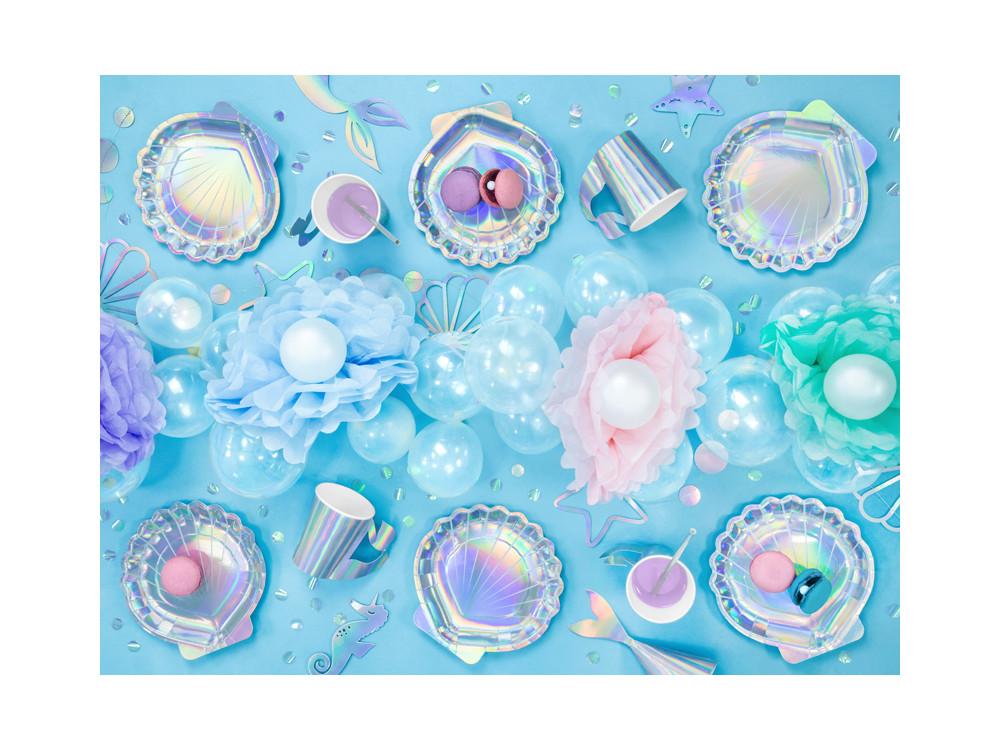 Tissue paper pompom - blue, 25 cm