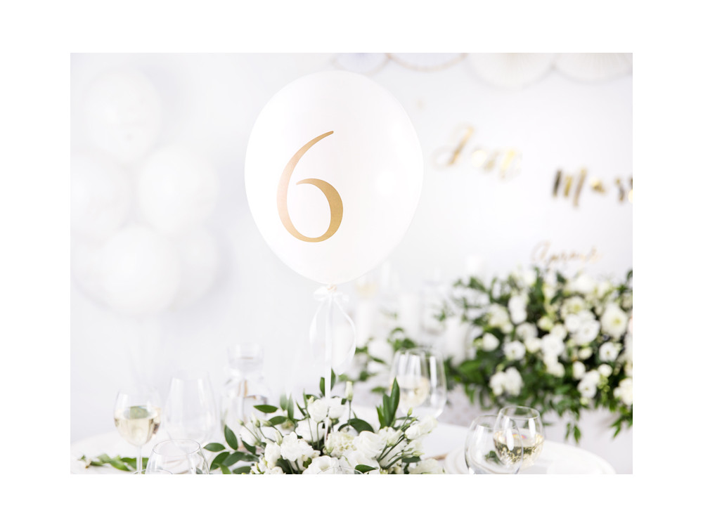 Numbers Strong balloons - pastel black, 30 cm, 10 pcs.