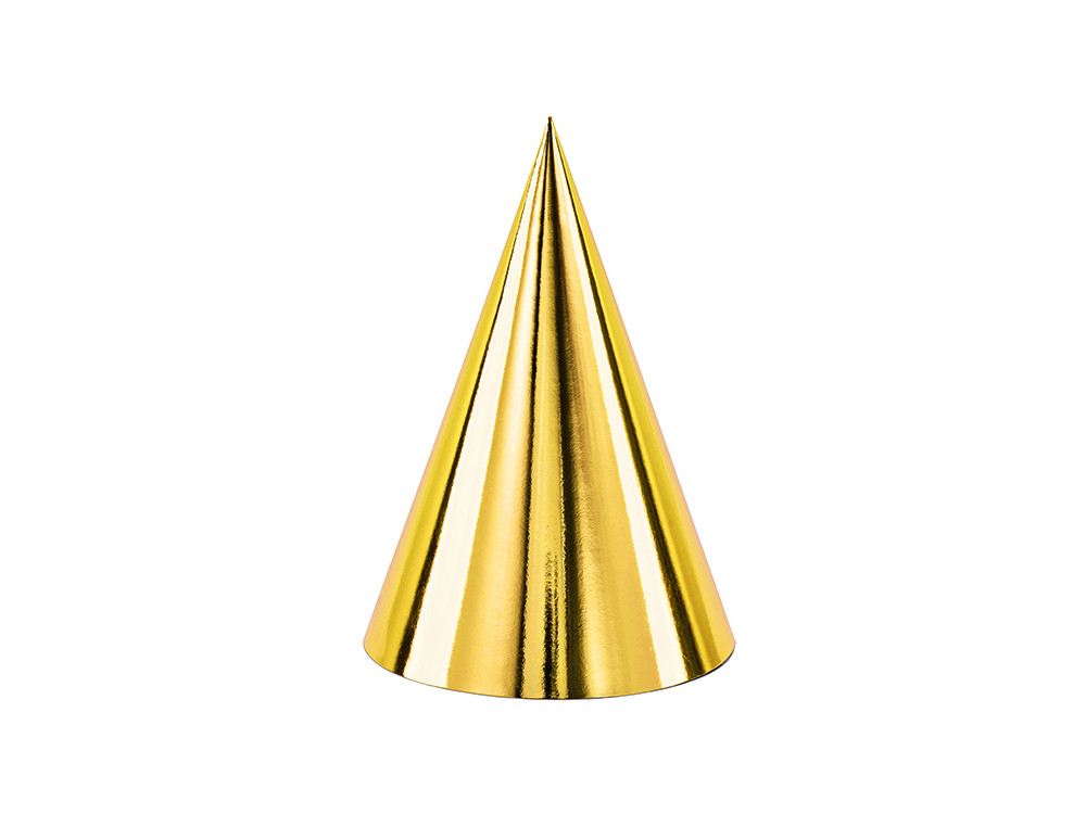 Party hats - gold, 6 pcs.