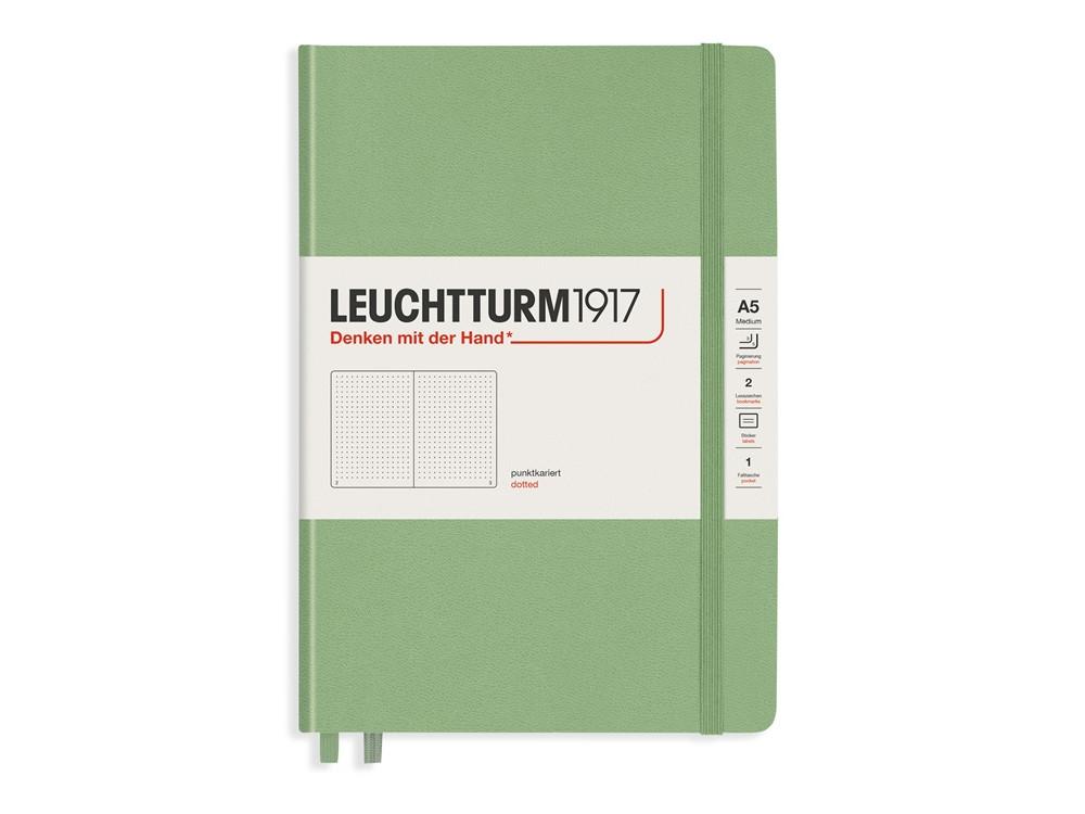 Notatnik Muted Colours A5 - Leuchtturm1917 - w kropki, bladozielony, 80 g/m2