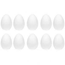 Styrofoam eggs - 10 cm, 10 pcs.