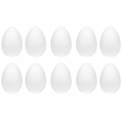 Jajka styropianowe - 9 cm, 10 szt.