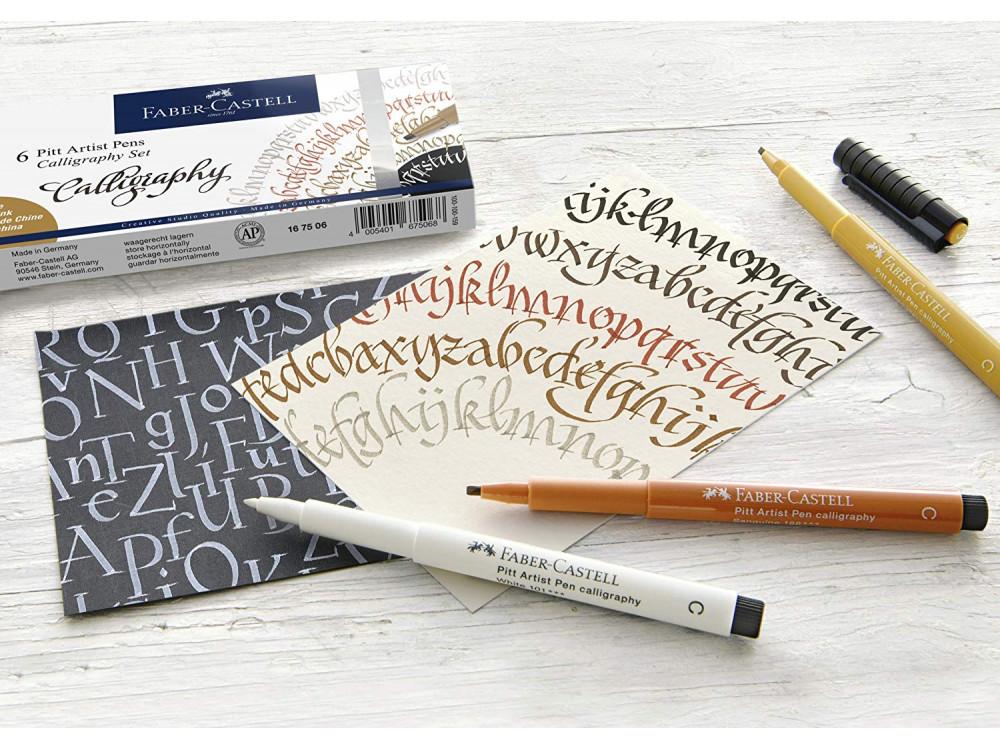 Pitt Artist Pens Calligraphy Set - Faber-Castell - 6 pcs.