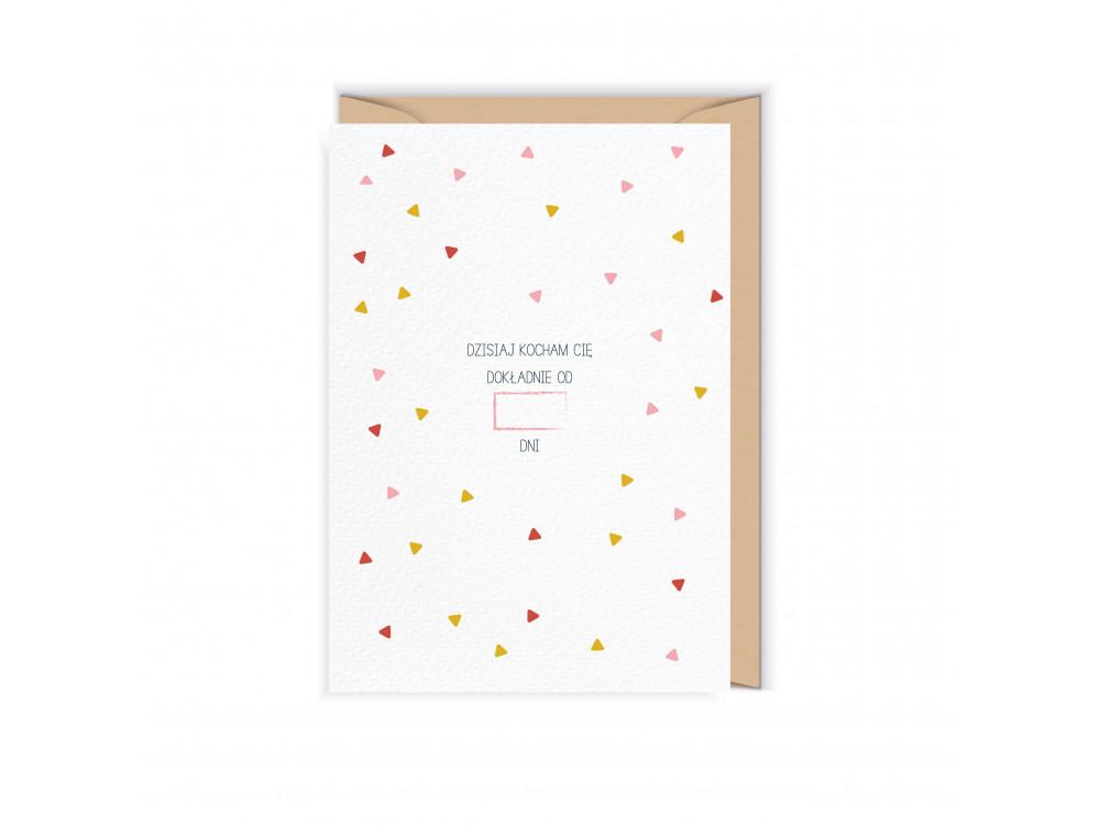 Greeting card - Cudowianki - Kocham Cię, 12 x 17 cm