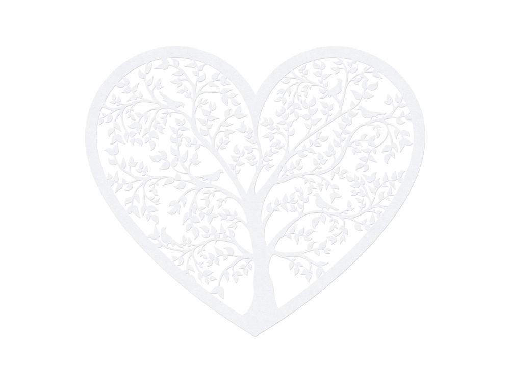 Paper Decorations Heart, 13.5 x 11.5cm, 10 pcs