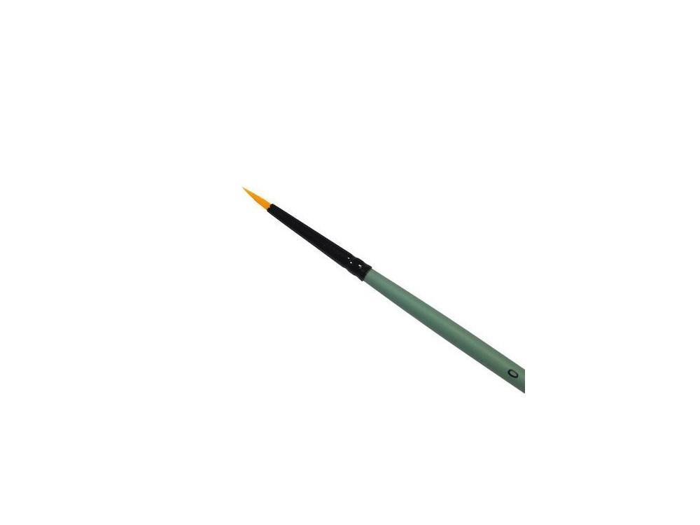 Round, synthetic brush - Renesans - short handle, no. 0
