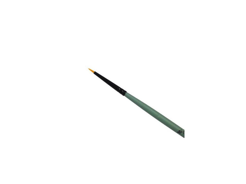 Round, synthetic brush - Renesans - short handle, no. 10/0