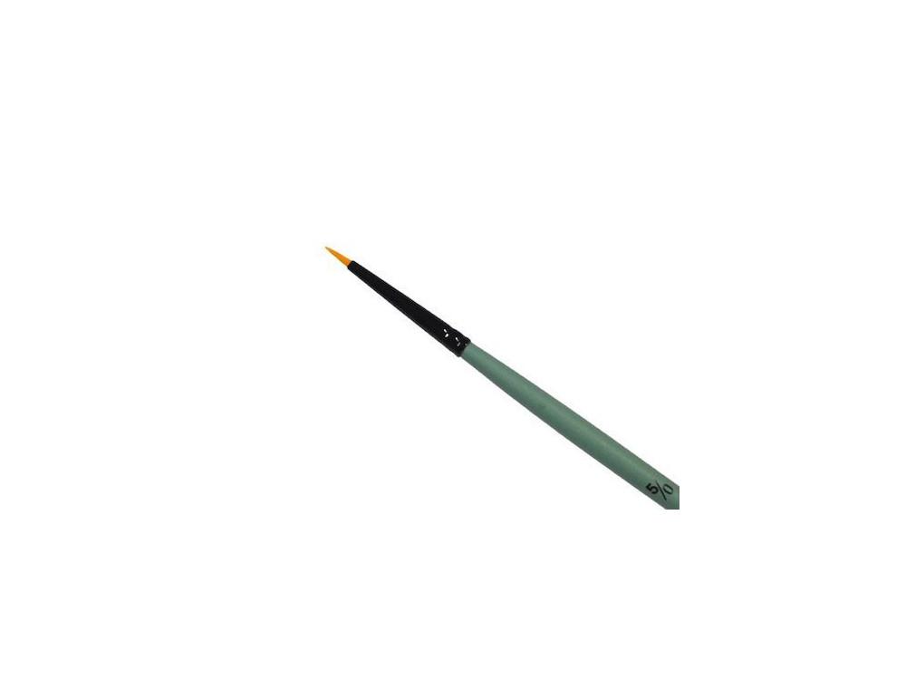 Pędzel okrągły, syntetyczny - Renesans - krótka rączka, rozmiar 5/0