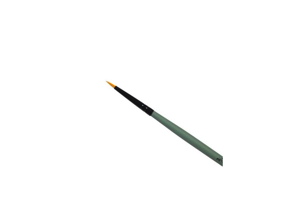 Round, synthetic brush - Renesans - short handle, no. 3/0