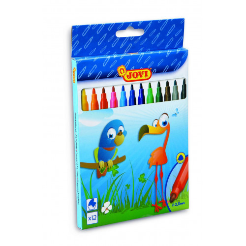 Felt Pens 12 colours Jovi