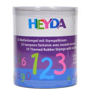 Zestaw stempli CYFRY 15 szt. Heyda