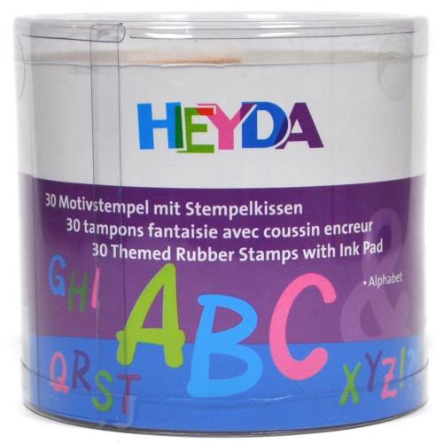 Stamp set - Heyda - alphabet, 30 pcs.