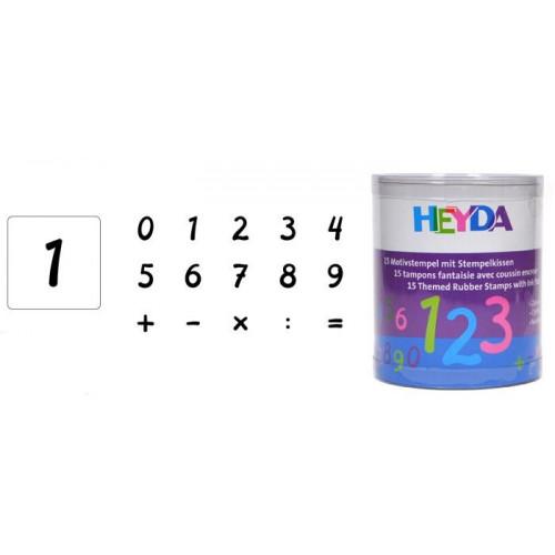 Zestaw stempli - Heyda - cyfry, 15 szt.