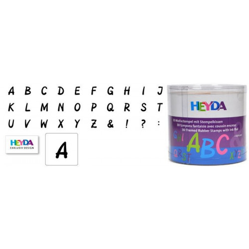 Zestaw stempli Litery - alfabet 30 szt. Heyda