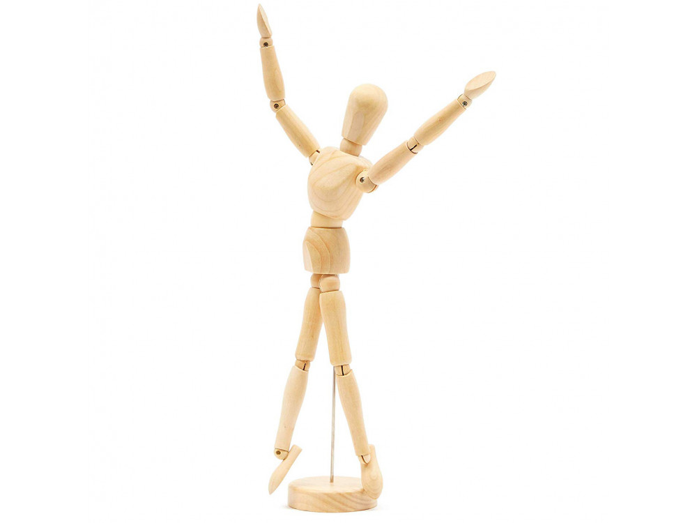 Wooden mannequin for drawing lessons - Leniar - 30 cm