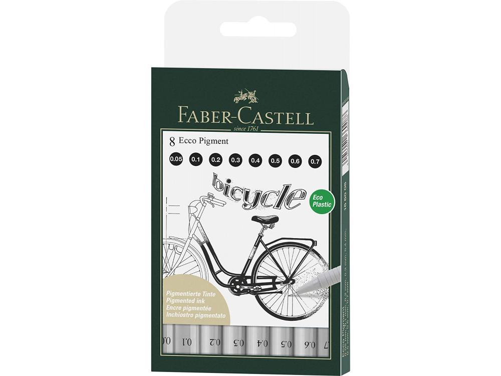 Ecco Pigment Fineliner set - Faber-Castell - 8 pcs.