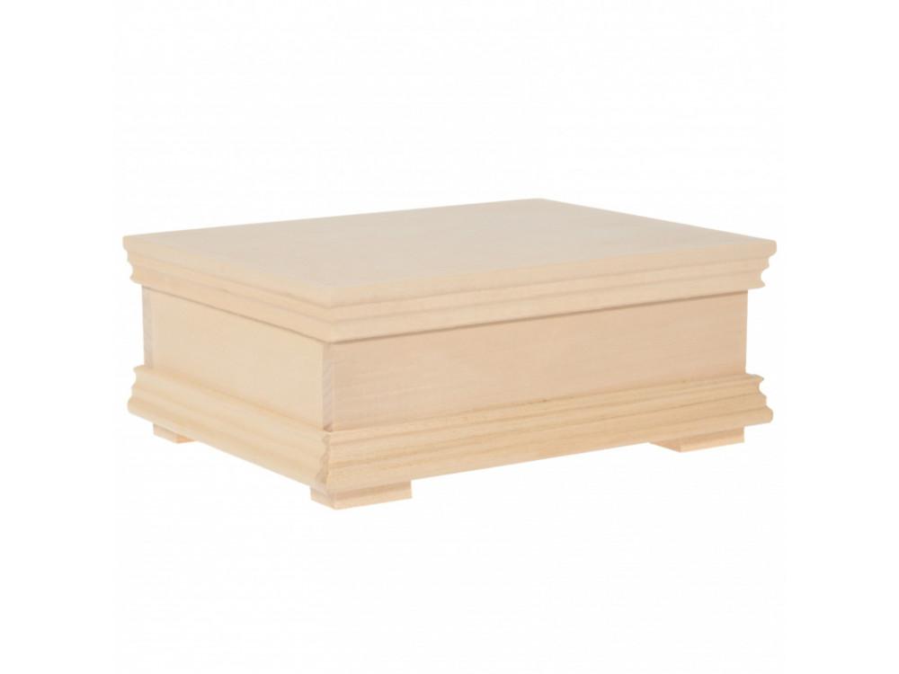 Kasetka drewniana z listwą - 22 x 17,5 x 8 cm