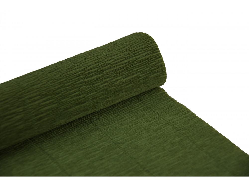 Krepina, bibuła włoska 180 g - Sage green, 50 x 250 cm
