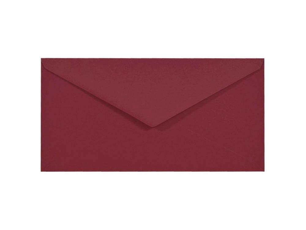 Koperta Sirio Color 115g - DL, Cherry, bordowa