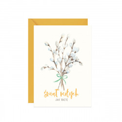 Greeting card A6 - Paperwords - Holidays nice as catkins